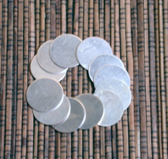 top quality sterling silver discs disks 24 gauge 12 - 5/8  for charm stamping