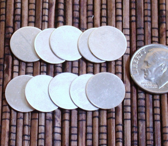 1/2 inch 24 gauge sterling disks discs set of 10 - Great for Initial stamping