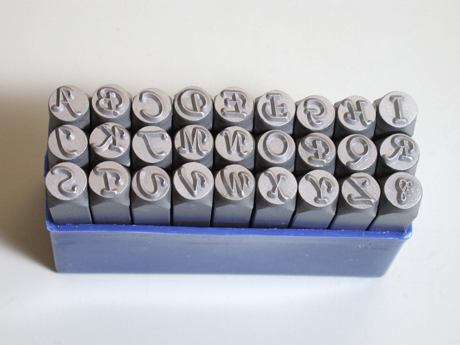 6mm Capital Letters Essex Font Metal Alphabet Stamps By