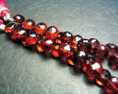 16 Pyrope Garnet Faceted Onion Briolettes 4mm to 6mm