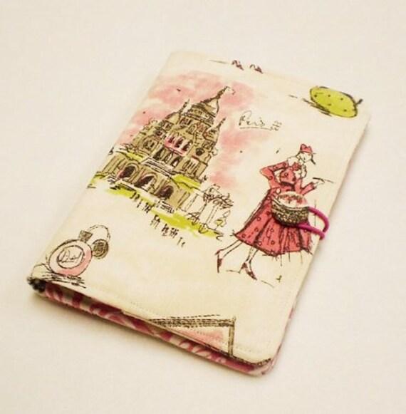 Kindle 3 ,Kindle Fire ,Cover - Paris Chic E-Reader Book style Kindle Case.
