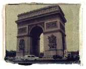 Arc de Triomphe polaroid transfer note card