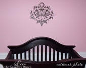 Baroque Style Damask Vinyl Wall Decal • Home Accent Wall Decal • Fancy Wall Decor for Nursery, Bedroom
