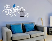 Free at Last Bird with Bird Cage Vinyl Wall Decal