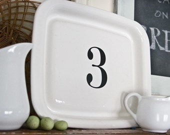 3 Custom Letter and Number Decals as seen on The Lettered Cottage - Set of Three Vinyl Decals to Personalize Your Space