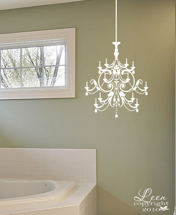 Items Similar To Crystal Chandelier Wall Applique Decal On