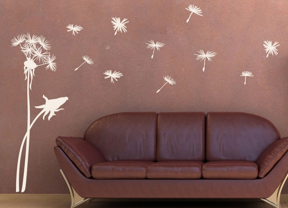 Dandelion Blowing in the Wind Wall Decal Larger Size