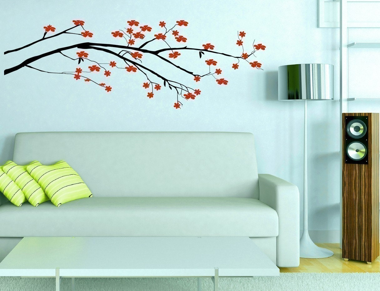 Blossom Tree Extra Large Wall Decal Japanese Cherry Blossom: Cherry Flower Blossom Tree Branch Vinyl Wall Decal