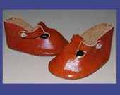 Great  Hand Made Leather T-Strap  Doll Shoes for  an Antique Doll