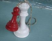 Chess Piece Necklace - Transformation - Original Design by Bittersweet Design Studio