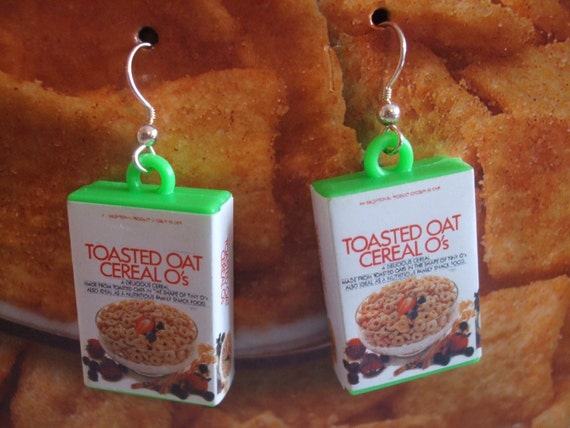 Cereal Box Earrings Kawaii Cuties