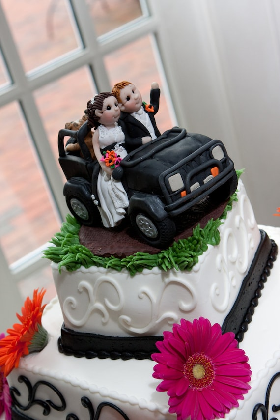 Jeep Wedding Cake Topper