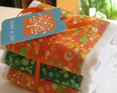RESERVED Funky Burp Cloths (Set of 3)