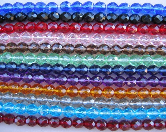 LOT of 300 Czech Firepolish Beads Faceted Round 8mm -Use coupon code LUIGIS10 for 10% off
