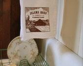 Hand Screen Printed Jalama Road Family Farmstand Tea Towel - FREE SHIPPING