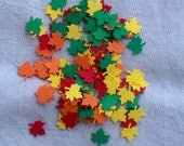 Reserved for Annie Mini Paper Leaves Hand Punched Die Cut Fall Colors