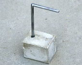 "Single Pair Earring Stand with Concrete Base. ""L"". (for AllisonHiltonJones)."