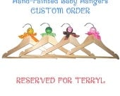 Hand-Painted Baby Hangers - Set of 4 - RESERVED FOR TERRYL