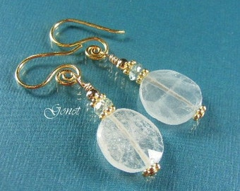 Aquamarine Earrings  (Water of the Sea) by Gonet Jewelry Design