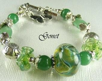 Green Aventurine Bracelet  (Garden Lore)  by Gonet Jewelry Design
