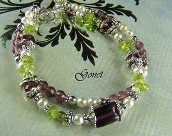 Gemstone Bracelet (Lady Fair) (Heather Collection) by Gonet Jewelry Design