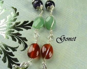 Gemstone Earrings (Tourou )  by Gonet Jewelry Design