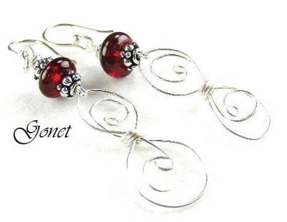 925 Sterling Silver Earrings  (Silver Lining Collection)   by Gonet Jewelry Design