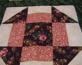 Quilted Churn Dash Table Topper