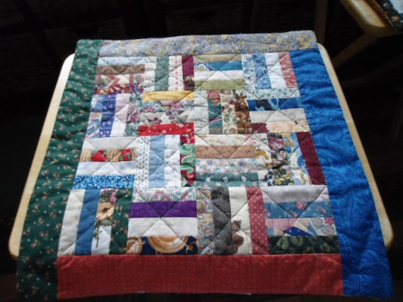 Quilted Rail Fence Pillow Cover