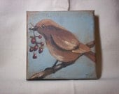 Bird with Berries - FREE SHIPPING