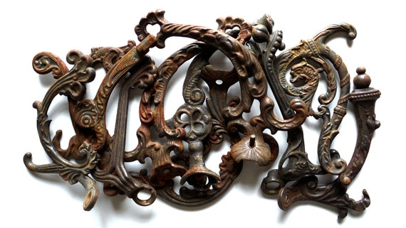 Highly Decorative Antique Hall Tree Pieces, Steampunk / Victorian / Art / Projects