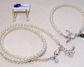 5mm white pearl jewelry set