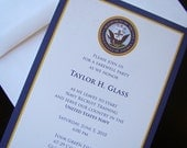 Joining Navy -- Farewell Party military invitations or announcements-- USN BOOTCAMP or OCS -- Patriotic Papers