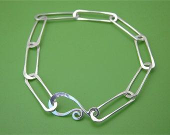 Paperclip Link Sterling Bracelet