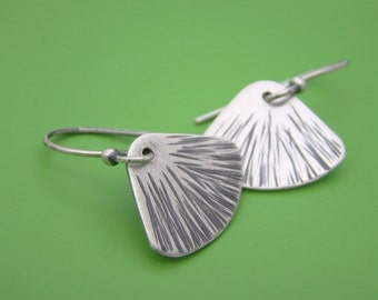 Zen Dangle Fan Sterling Earrings