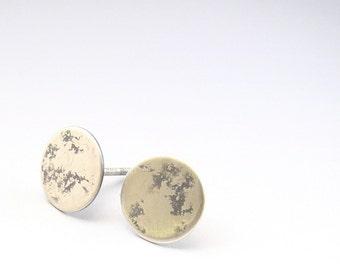 Sterling Silver Moon Post Stud Earrings- Urban Luna Earrings