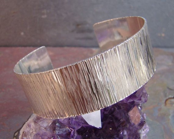 Sterling Wide Zen Cuff
