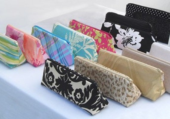 BRIDESMAID GIFTS - DESIGN YOUR OWN - custom lola mini make up\/clutch