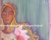 I'm Every Woman  Black Art Handpainted Wooden Box