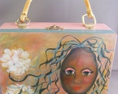Spring Lovin Girl a  Hand Painted Wooden Purse