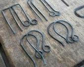 8 PAIR Variety Pack Sterling Silver Earwires - Handmade. Handforged. Heavily Oxidized