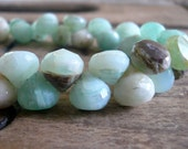 Earthy Peruvian Blue Opal Onion Briolettes - 8mm, 1/2 strand