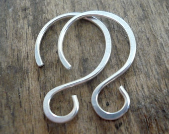 8 Pairs of my Solitude Sterling Silver Earwires - Handmade. Handforged
