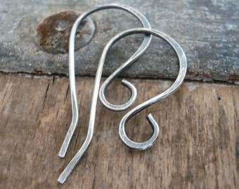 12 Pairs of my Solitaire Sterling Silver Earwires - Handmade. Oxidized and polished