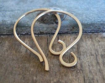 4 Pairs of my Large Twinkle 14kt Goldfill Earwires - Handmade. Handforged
