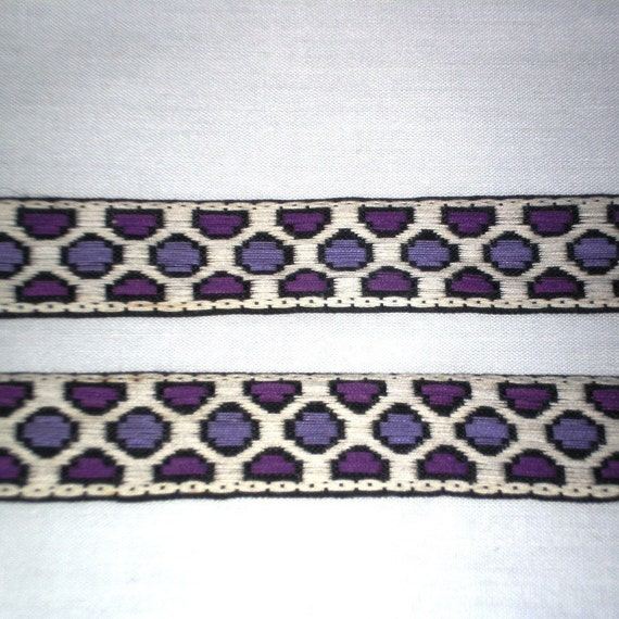Purple Polka Dot diamond vintage ribbon 3/4 inch wide - 12 yards - reserved for Katie
