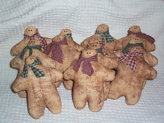 Set of 12 Grubby Gingerbread Men