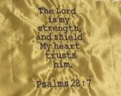 My Strength  Scripture Prayer Handkerchief