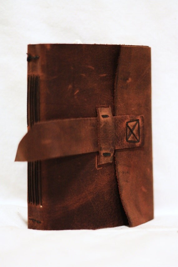 Leather Journal with Tab Closure