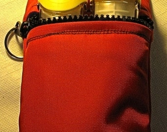 epinephrine case pouch carrier INSULATED zippered bag basic for Epi Pen ® pouch -options to select from personalize